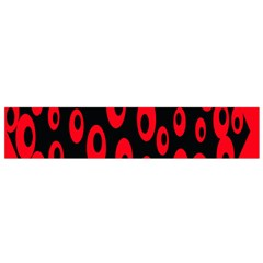 Scatter Shapes Large Circle Black Red Plaid Triangle Flano Scarf (small)