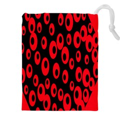 Scatter Shapes Large Circle Black Red Plaid Triangle Drawstring Pouches (xxl)