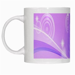 Purple Circle Line Light White Mugs