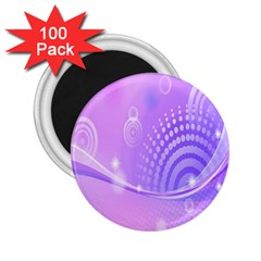 Purple Circle Line Light 2 25  Magnets (100 Pack)  by Alisyart