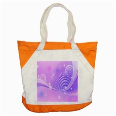 Purple Circle Line Light Accent Tote Bag by Alisyart