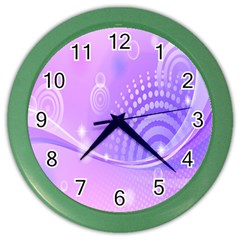 Purple Circle Line Light Color Wall Clocks by Alisyart