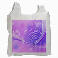 Purple Circle Line Light Recycle Bag (one Side)