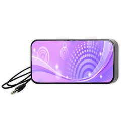 Purple Circle Line Light Portable Speaker (black) by Alisyart