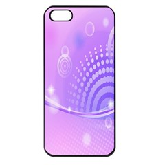 Purple Circle Line Light Apple Iphone 5 Seamless Case (black)