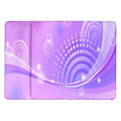 Purple Circle Line Light Samsung Galaxy Tab 10 1  P7500 Flip Case