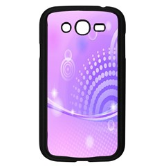 Purple Circle Line Light Samsung Galaxy Grand Duos I9082 Case (black) by Alisyart