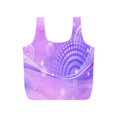 Purple Circle Line Light Full Print Recycle Bags (s)  by Alisyart