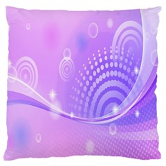 Purple Circle Line Light Large Flano Cushion Case (one Side) by Alisyart