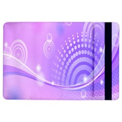 Purple Circle Line Light Ipad Air 2 Flip