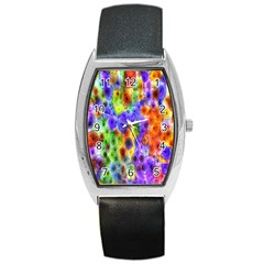 Green Jellyfish Yellow Pink Red Blue Rainbow Sea Purple Barrel Style Metal Watch by Alisyart
