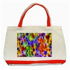 Green Jellyfish Yellow Pink Red Blue Rainbow Sea Purple Classic Tote Bag (red)