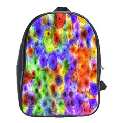 Green Jellyfish Yellow Pink Red Blue Rainbow Sea Purple School Bags(large)  by Alisyart