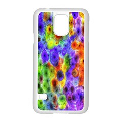 Green Jellyfish Yellow Pink Red Blue Rainbow Sea Purple Samsung Galaxy S5 Case (white)