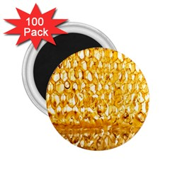 Honeycomb Fine Honey Yellow Sweet 2 25  Magnets (100 Pack)