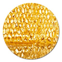 Honeycomb Fine Honey Yellow Sweet Magnet 5  (round)