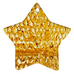 Honeycomb Fine Honey Yellow Sweet Star Ornament (two Sides)