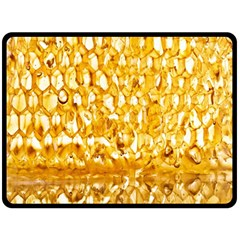 Honeycomb Fine Honey Yellow Sweet Fleece Blanket (large)