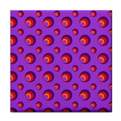 Scatter Shapes Large Circle Red Orange Yellow Circles Bright Tile Coasters by Alisyart