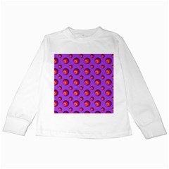 Scatter Shapes Large Circle Red Orange Yellow Circles Bright Kids Long Sleeve T Shirts by Alisyart