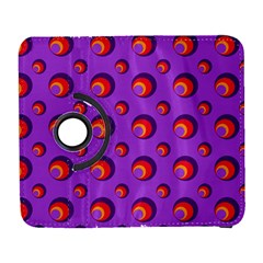 Scatter Shapes Large Circle Red Orange Yellow Circles Bright Galaxy S3 (flip/folio)