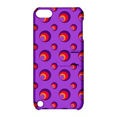 Scatter Shapes Large Circle Red Orange Yellow Circles Bright Apple Ipod Touch 5 Hardshell Case With Stand