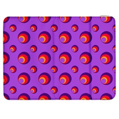 Scatter Shapes Large Circle Red Orange Yellow Circles Bright Samsung Galaxy Tab 7  P1000 Flip Case