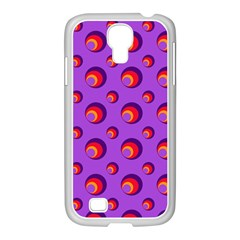 Scatter Shapes Large Circle Red Orange Yellow Circles Bright Samsung Galaxy S4 I9500/ I9505 Case (white)
