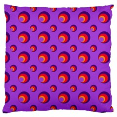Scatter Shapes Large Circle Red Orange Yellow Circles Bright Standard Flano Cushion Case (two Sides)