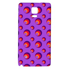 Scatter Shapes Large Circle Red Orange Yellow Circles Bright Galaxy Note 4 Back Case