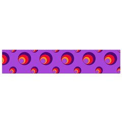 Scatter Shapes Large Circle Red Orange Yellow Circles Bright Flano Scarf (small)