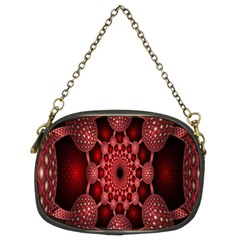 Lines Circles Red Shadow Chain Purses (two Sides)  by Alisyart