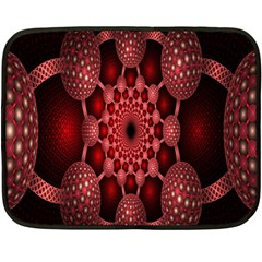 Lines Circles Red Shadow Fleece Blanket (mini)