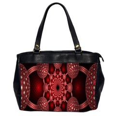 Lines Circles Red Shadow Office Handbags (2 Sides)  by Alisyart