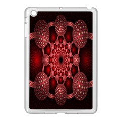 Lines Circles Red Shadow Apple Ipad Mini Case (white)