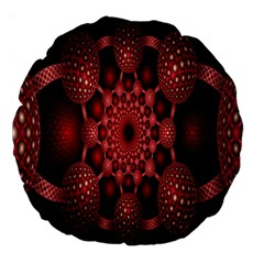 Lines Circles Red Shadow Large 18  Premium Round Cushions by Alisyart