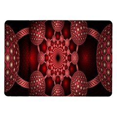 Lines Circles Red Shadow Samsung Galaxy Tab 10 1  P7500 Flip Case