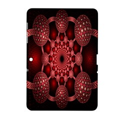 Lines Circles Red Shadow Samsung Galaxy Tab 2 (10 1 ) P5100 Hardshell Case