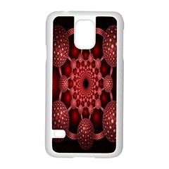 Lines Circles Red Shadow Samsung Galaxy S5 Case (white)