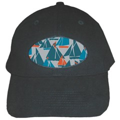 Ship Sea Blue Black Cap