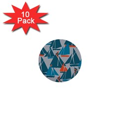 Ship Sea Blue 1  Mini Buttons (10 Pack)