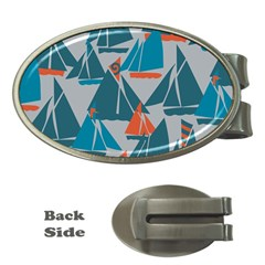 Ship Sea Blue Money Clips (oval)  by Alisyart