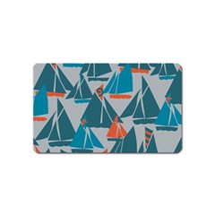 Ship Sea Blue Magnet (name Card)