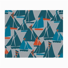 Ship Sea Blue Small Glasses Cloth
