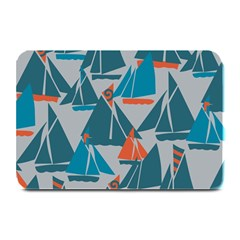 Ship Sea Blue Plate Mats