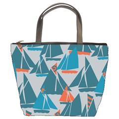 Ship Sea Blue Bucket Bags by Alisyart