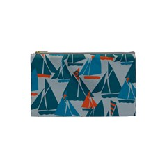 Ship Sea Blue Cosmetic Bag (small)