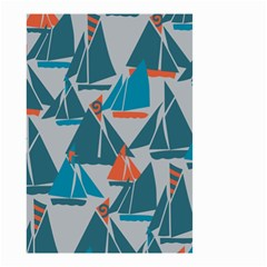 Ship Sea Blue Small Garden Flag (two Sides)