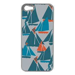 Ship Sea Blue Apple Iphone 5 Case (silver)