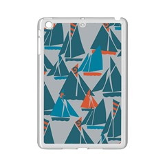 Ship Sea Blue Ipad Mini 2 Enamel Coated Cases